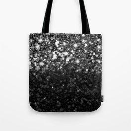 Black & Silver Glitter Gradient Tote Bag