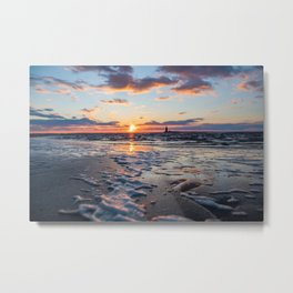 Sunset | The Point at Cape Henlopen State Park - Lewes, Delaware Metal Print