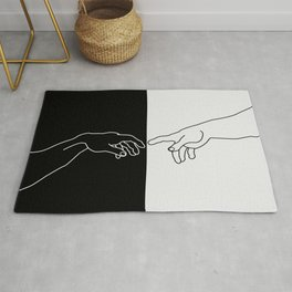 Hands of God and Adam- The creation of Adam Rug