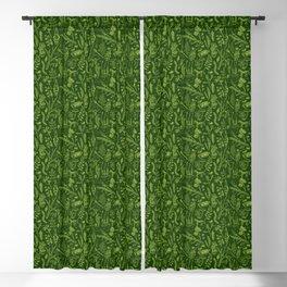 Woodland walk - dark acid green Blackout Curtain