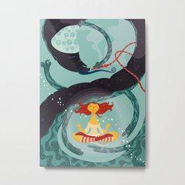Alice in Wonder-zen (illustration 1) Metal Print