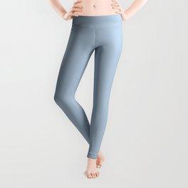 Pale Blue Solid Color Trend Scandinavian Modern Leggings