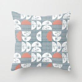 Mid-Century Check Pattern Throw Pillow
