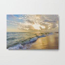 Glorious Coastal Sunset Metal Print