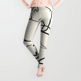 Abstract line art 12 Leggings