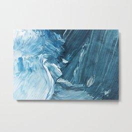 Abstract blue ocean Metal Print