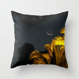 sliver moon Throw Pillow