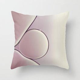 oil and water abstract III Throw Pillow