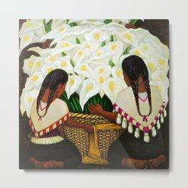 Vendedora de Alcatraces - Calla Lily Flower Sellers by Diego Rivera Metal Print