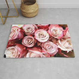 Red Rose Bouquet Rug