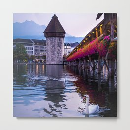Evenings in Lucerne Metal Print
