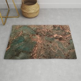 Marble Emerald Copper Blue Green Rug