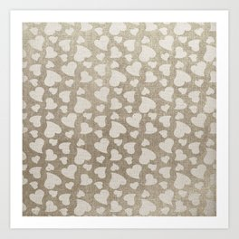 Canvas Design with Heart Shapes and a Great Texture Art Print