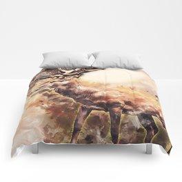 Deer Portrait Comforters
