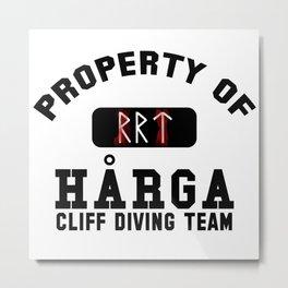Property of Harga Cliff Diving Team Metal Print