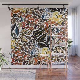 Butterflies of North America Pattern Wall Mural