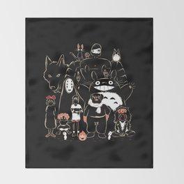Portrait family Throw Blanket