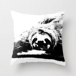 A Smiling Sloth Throw Pillow