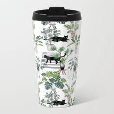 cats in the interior pattern Metal Travel Mug