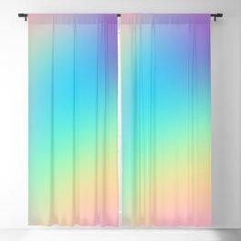 Soft Pastel Rainbow Ombre Design Blackout Curtain