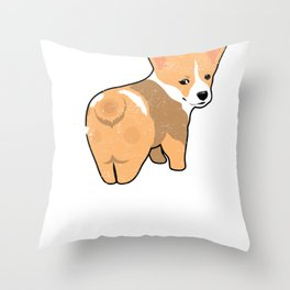 Guess What Corgi Butt Dog Welsh Corgi Puppy Lover Gift product Throw Pillow