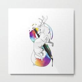 RitheWolf - To Be an Artist Metal Print