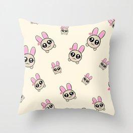 Cutesy Bunny Throw Pillow
