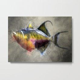 colors fish in the ocean digital crativity painting Metal Print