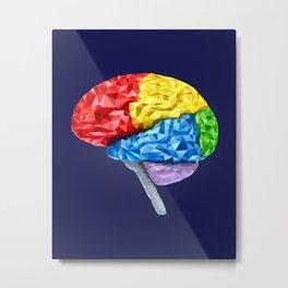 Brain Geometry Metal Print