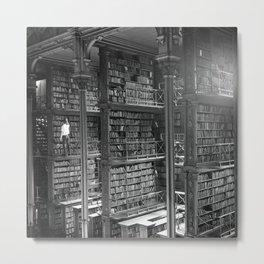 A Book Lover's Dream - Cast-iron Book Alcoves of Old Cincinnati Public Library Metal Print
