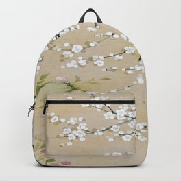 Japanese apricot flower painting,oriental,chinoiserie,korean painting Backpack