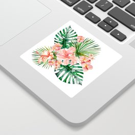 Tropical Jungle Hibiscus Flowers - Floral Sticker