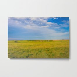 Prairie Ruins, North Dakota 1 Metal Print