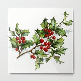 Holly Berries 001 by JAMFoto Metal Print
