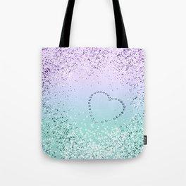 Sparkling MERMAID Girls Glitter Heart #1 #decor #art #society6 Tote Bag