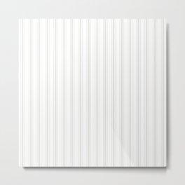 Creamy Tofu White Mattress Ticking Wide Striped Pattern - Fall Fashion 2018 Metal Print