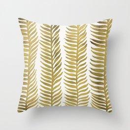 Golden Seaweed Throw Pillow