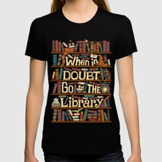 Go to the library Black MEDIUM Womens Fitted Tee