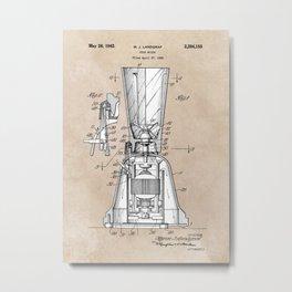 patent art Landgraf Food Mixer 1939 Metal Print
