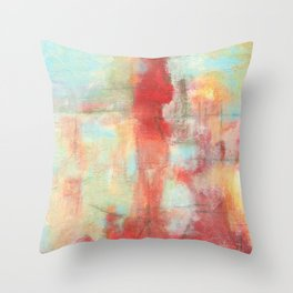 Ascension, Abstract Art Painting Throw Pillow