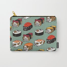 Sushi English Bulldog Carry-All Pouch