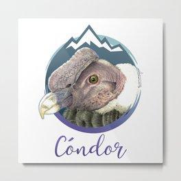 Cóndor Andino Metal Print