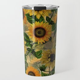 Vintage & Shabby Chic - Sunflowers Flower Garden Travel Mug