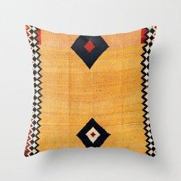 Qashqa'i Fars Southwest Persian Kilim Print Throw Pillow