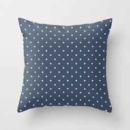 Blue & White Polka Dot Pattern  Throw Pillow