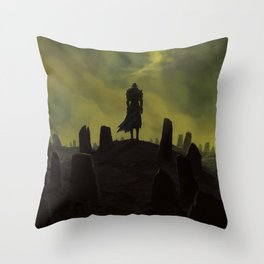 Dying alone Throw Pillow