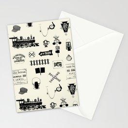 Railroad Symbols // Beige Stationery Cards