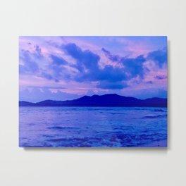 Blue Mountain Shore Metal Print