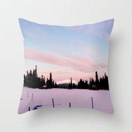 Pink morning Throw Pillow