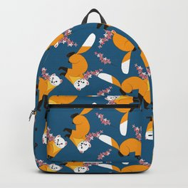 Sakura Japanese marten royal blue Backpack